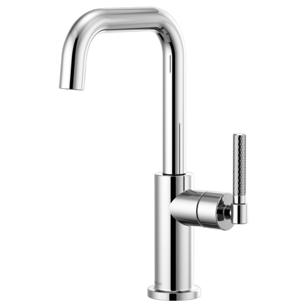 BRIZO 61053LF LITZE BAR FAUCET WITH SQUARE SPOUT AND KNURLED HANDLE