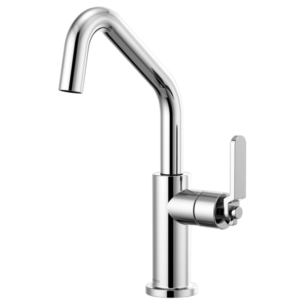 Brizo 61064LF Litze Bar Faucet with Angled Spout and Industrial Handle