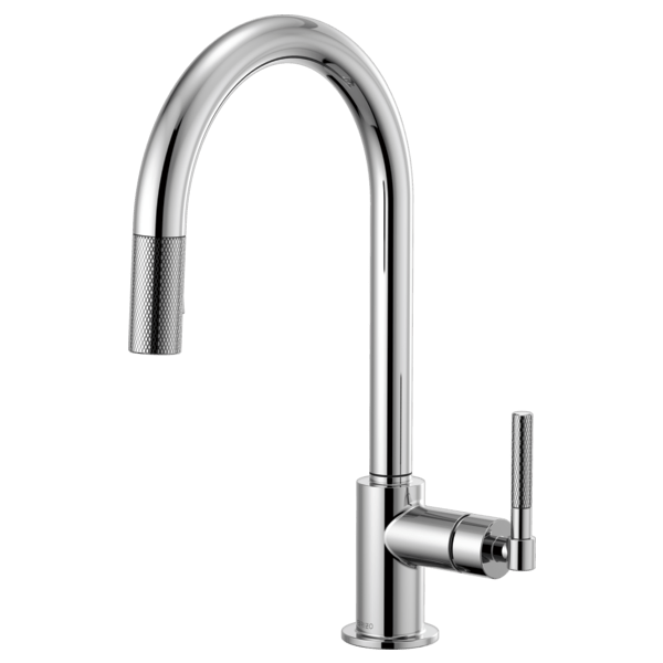 Brizo 63043LF Litze Pull-Down Faucet with Arc Spout and Knurled Handle