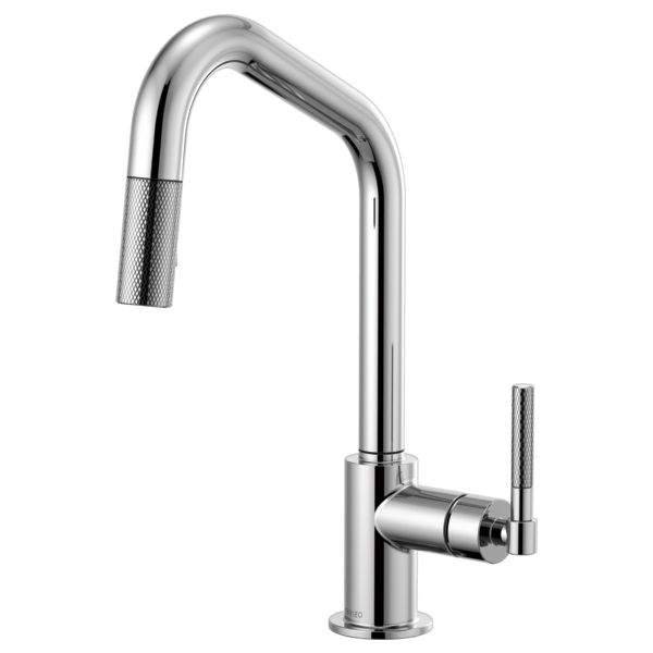 Brizo 63063LF Litze Pull-Down Faucet with Angled Spout and Knurled Handle
