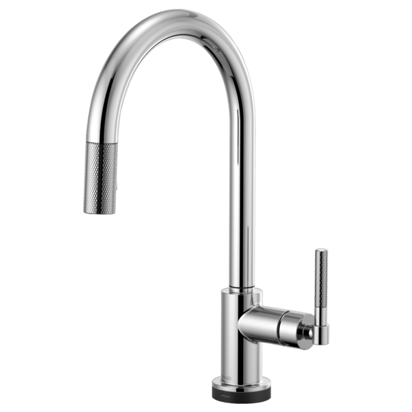 BRIZO 64043LF LITZE SMARTTOUCH PULL-DOWN FAUCET WITH ARC SPOUT AND KNURLED HANDLE