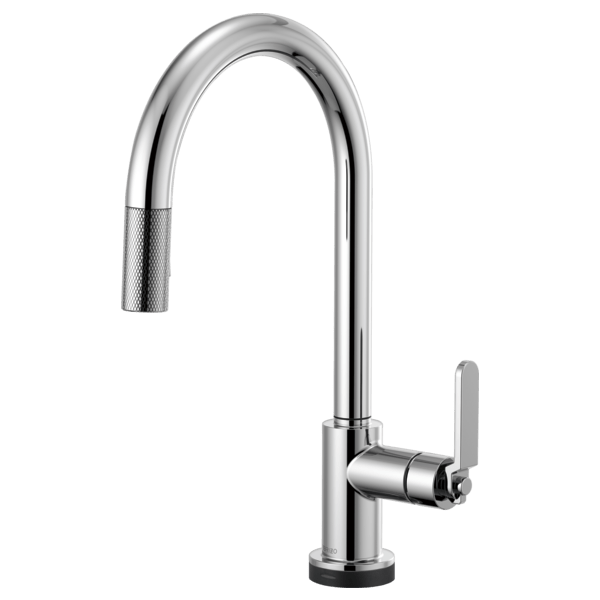 Brizo 64044LF Litze SmartTouch Pull-Down Faucet with Arc Spout and Industrial Handle