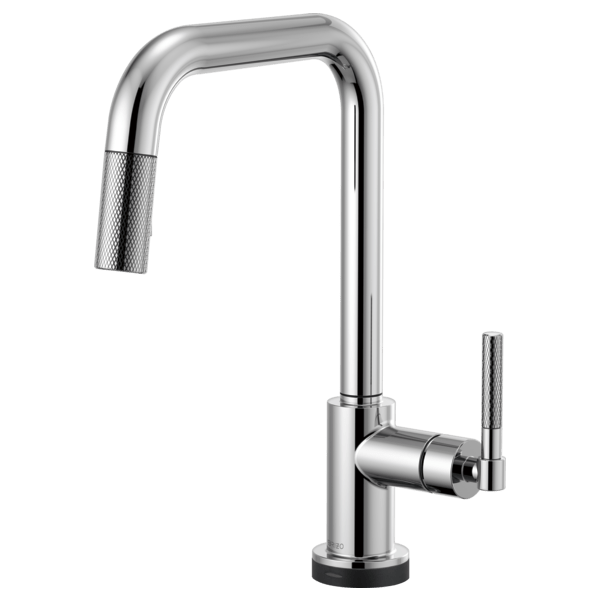 Brizo 64053LF Litze SmartTouch Pull-Down Faucet with Square Spout and Knurled Handle