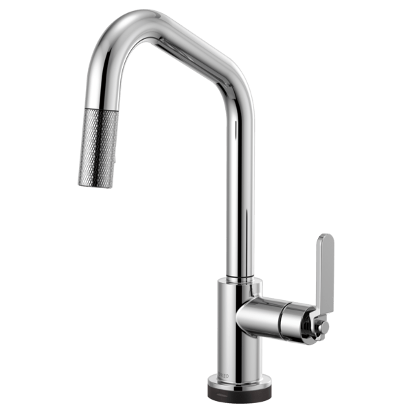 BRIZO 64064LF LITZE SMARTTOUCH PULL-DOWN FAUCET WITH ANGELED SPOUT AND INDUSTRIAL HANDLE