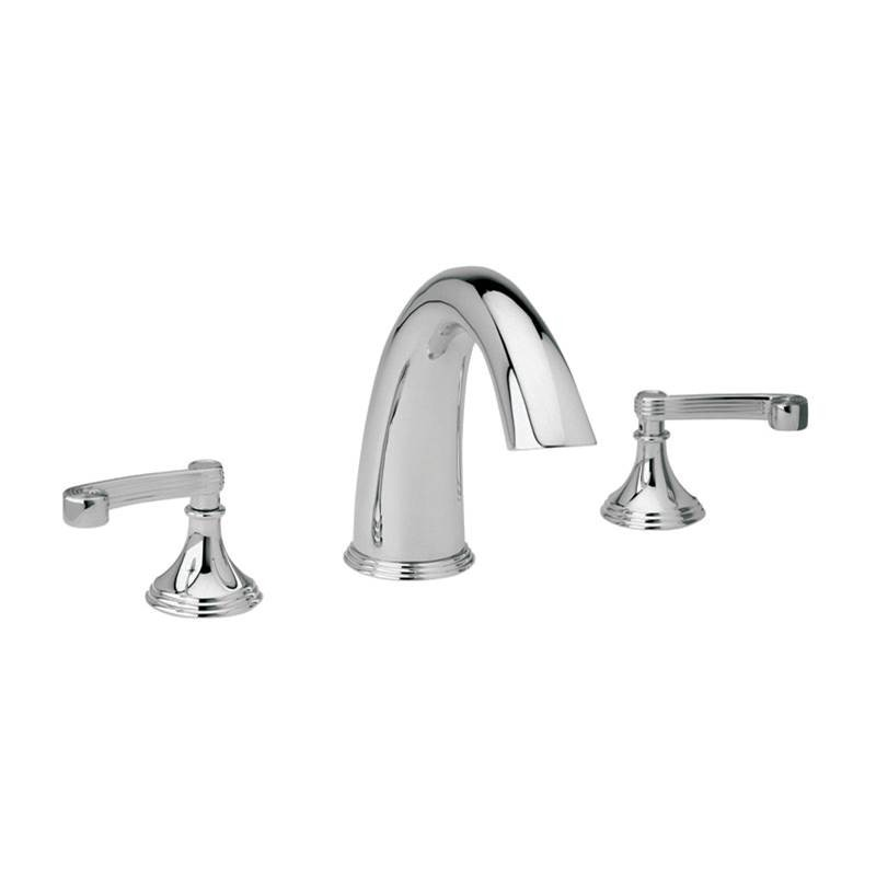 PHYLRICH D1206E 3RING THREE HOLES WIDESPREAD DECK TUB SET WITH CURVED LEVER HANDLES
