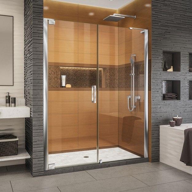 Dreamline Shdr 20337210 01 Unidoor 33 34 W X 72 H Frameless Hinged Shower Door Clear Glass Dreamline