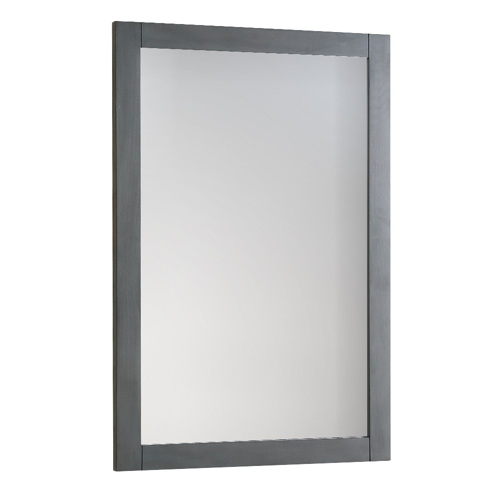 Fresca FMR2304VG Manchester 20 Inch Gray Wood Veneer Traditional Bathroom Mirror