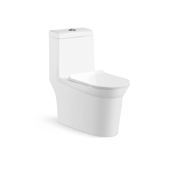 Moreno Bath 6707 One-Piece 1.24/0.8 GPF Dual Flush Toilet with Soft Closing Seat in White