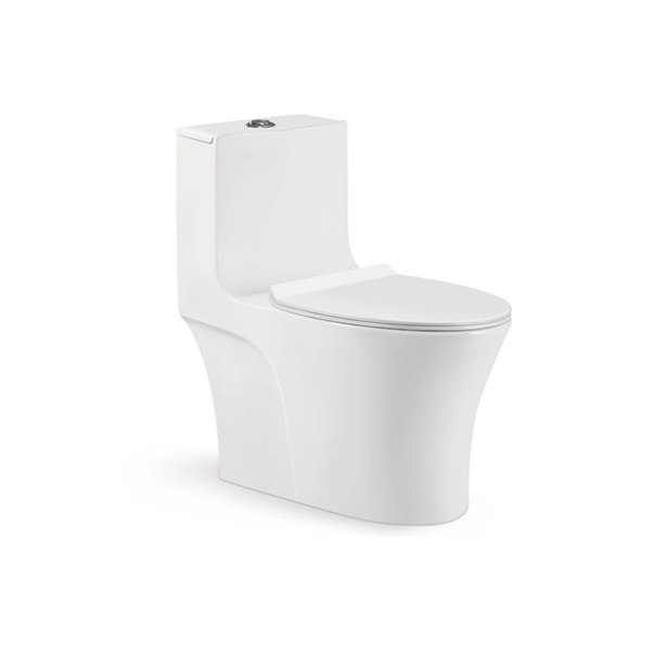 Moreno Bath 6709 One-Piece 1.24/0.8 GPF Dual Flush Toilet with Soft Closing Seat in White