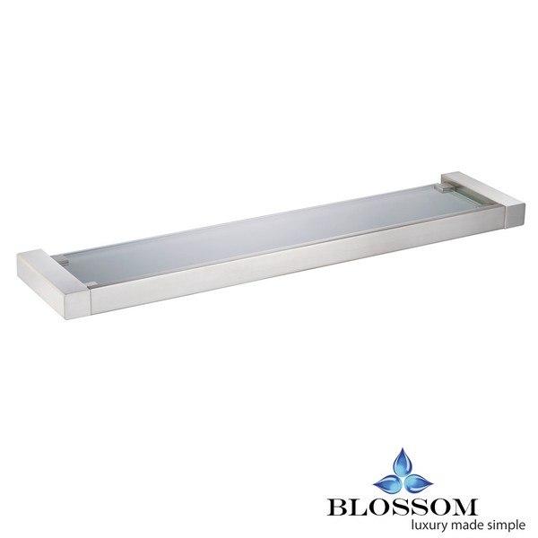 BLOSSOM BA02 607 02 GLASS SHELF IN BRUSH NICKEL