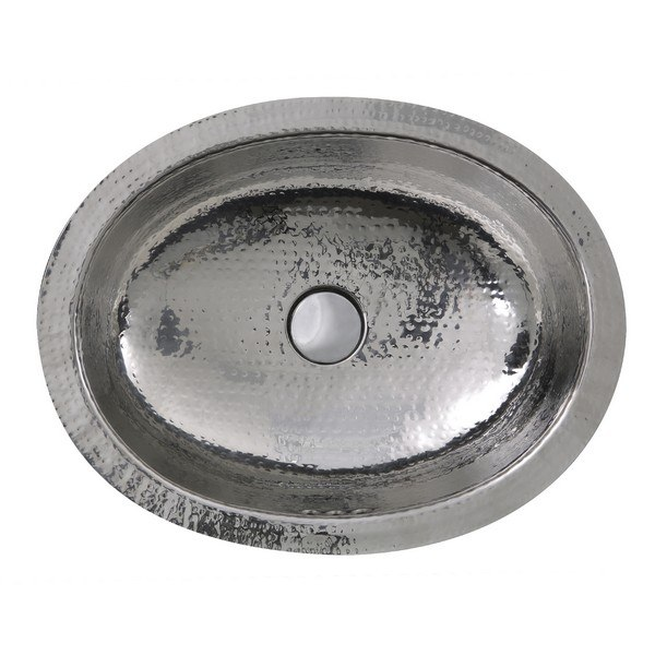 Nantucket Sinks Ovs Of 17 1 2 X 13 3 4 Inch Hand Hammered Stainless Steel