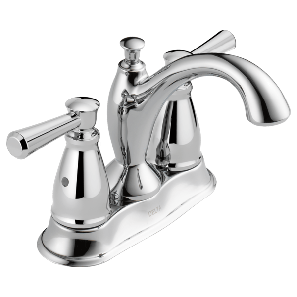 Delta 2593-MPU-DST Linden Two Handle Centerset Lavatory Faucet with Metal Pop-Up