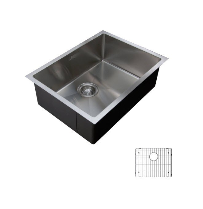 bottom grids for kitchen sinks ukinox rs558 g undermount single bowl stainless steel 7949