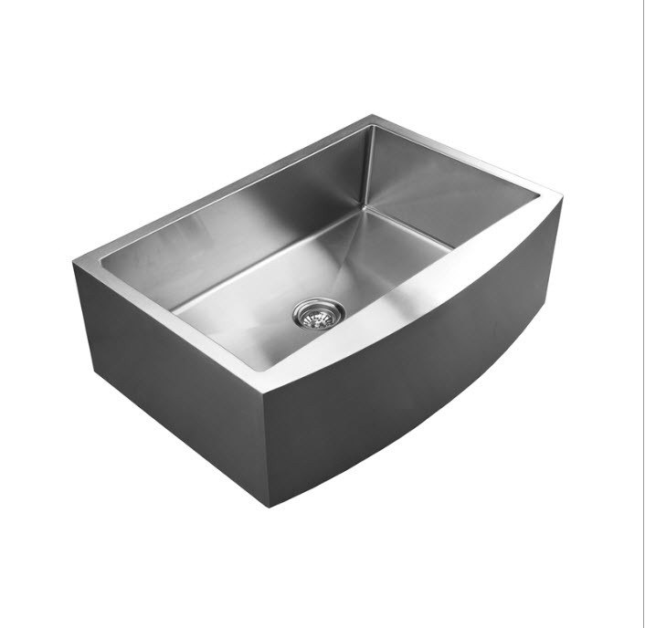 UKINOX RSFC849.C APRON FRONT SINGLE BOWL STAINLESS STEEL KITCHEN SINK WITH CUTTING BOARD