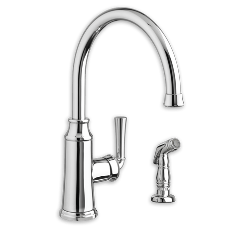 American Standard 4285.051.F15 Portsmouth 1-Handle High-Arc Kitchen Faucet with Side Spray 1.5 GPM/5.7 L/min. Maximum Flow Rate