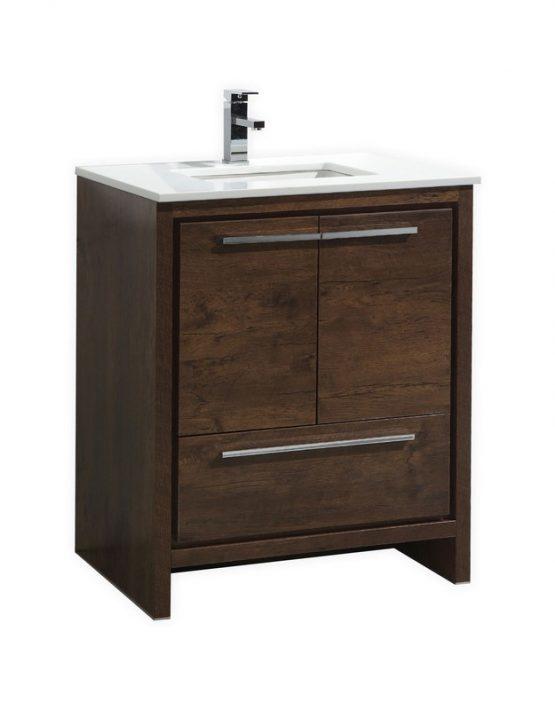 Moreno Bath Md630rw Mod 30 Inch Rose Wood Free Standing Modern Bathroom Vanity With 2 Doors And