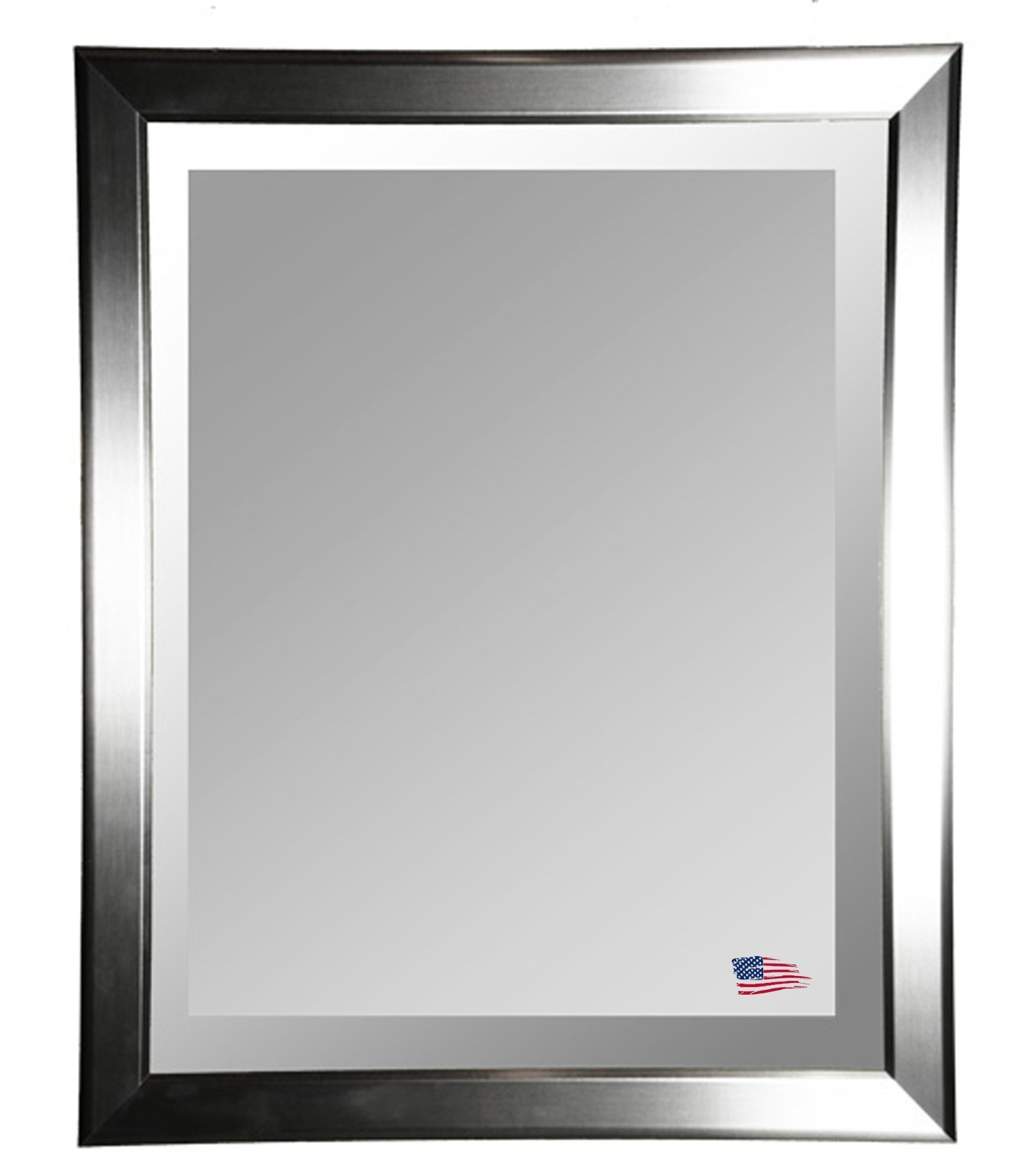 36 Inch Round Mirror Part - 46: Rayne Mirrors R001ML2 32 X 36 Inch Silver Round Wall Mirror