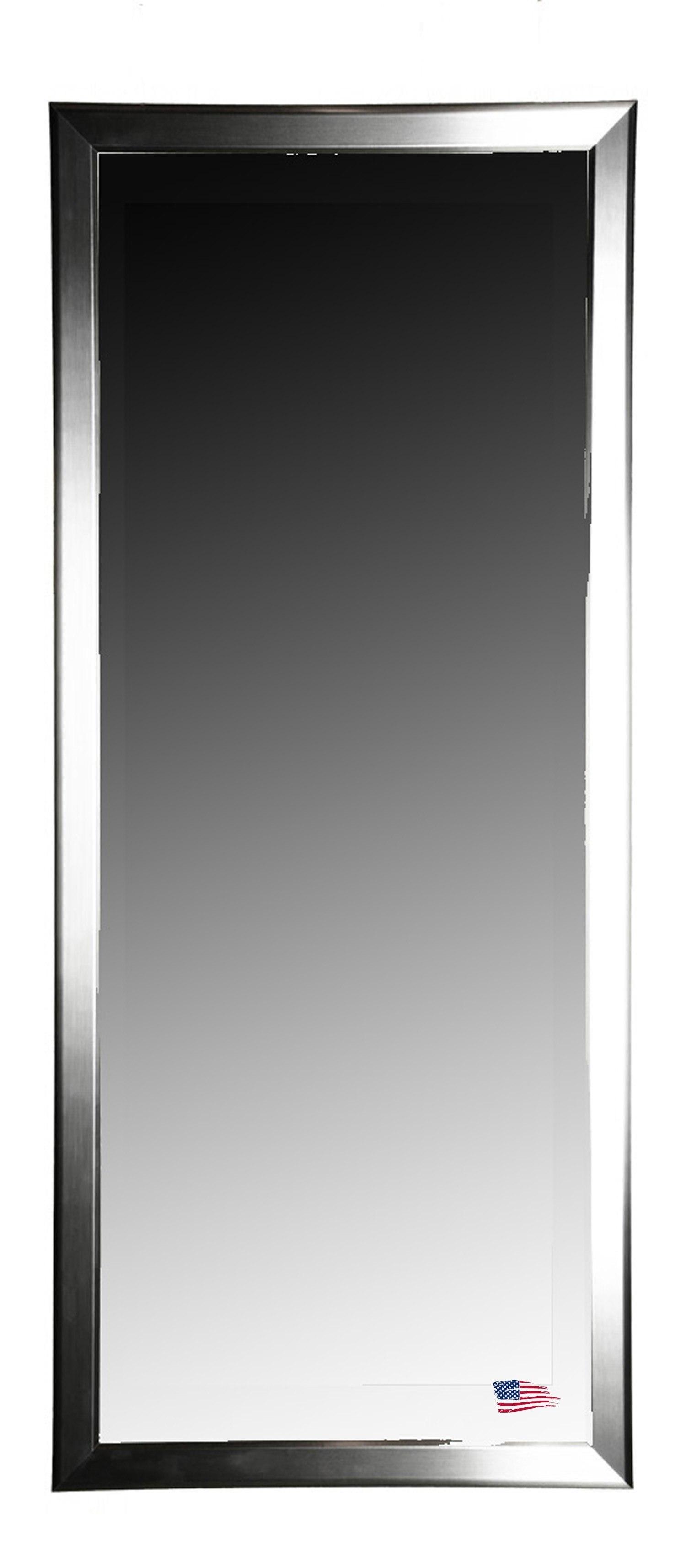 Rayne Mirrors R001T 29 x 64 Inch Silver Round Floor Mirror