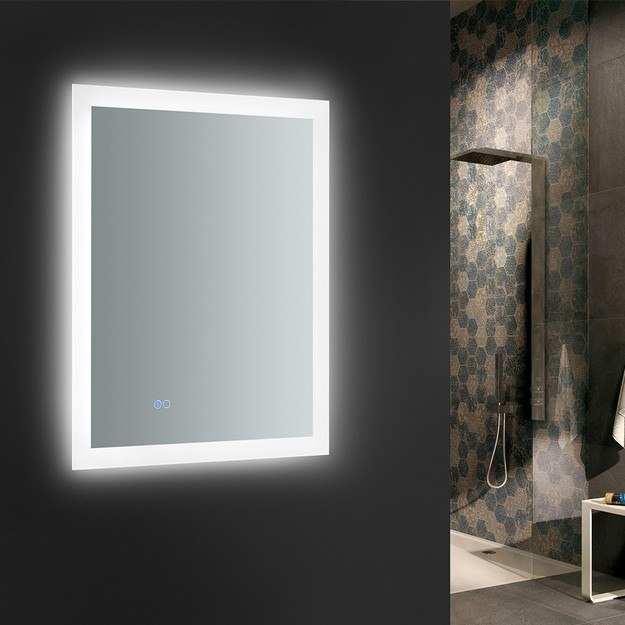 Fresca Fmr012436 Angelo 24 X 36 Inch Tall Bathroom Mirror With Halo Style Led Lighting And Defogger