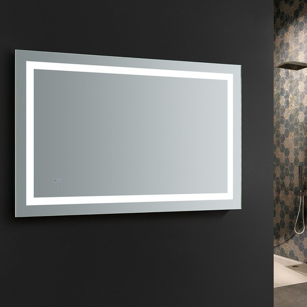 Fresca Fmr024830 Santo 48 X 30 Inch Tall Bathroom Mirror With Led Lighting And Defogger