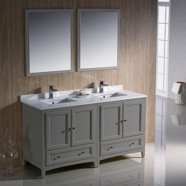 traditional double sink bathroom vanities fresca fvn203030gr oxford 60 inch gray traditional double sink bathroom vanity oxford inch gray traditional double sink bathroom
