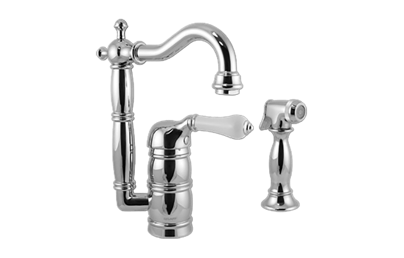 GRAFF G-5257-LC3 CANTERBURY PREP FAUCET WITH SIDE SPRAY