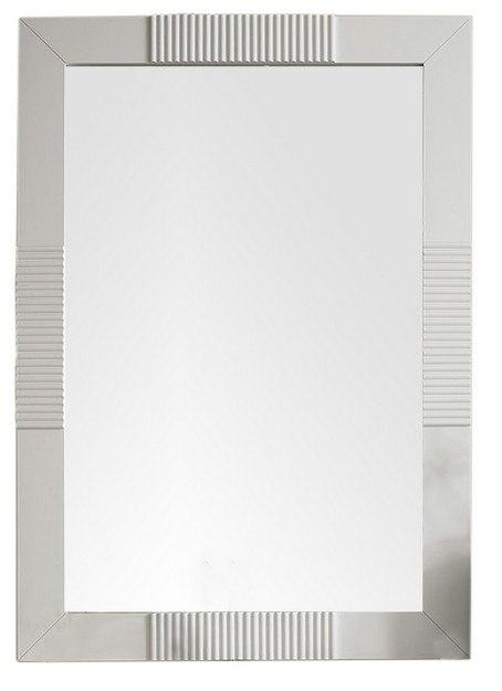 James Martin 516-M30-BW Brisbane 30 Inch Rectangular Mirror in Bright White