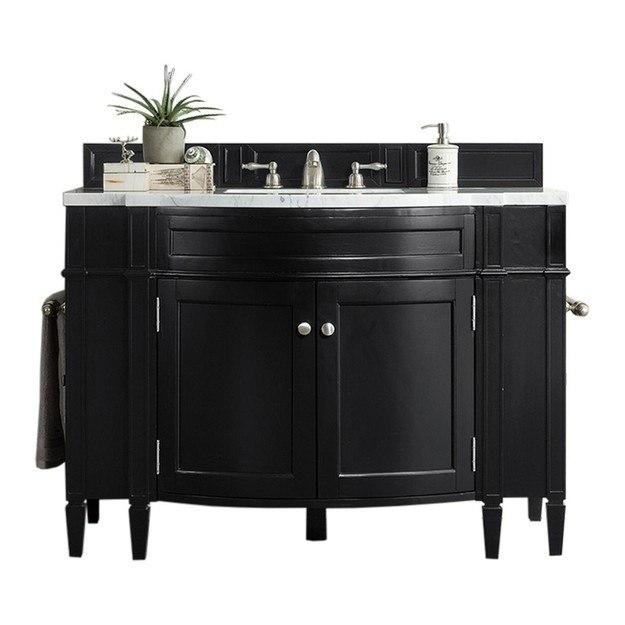 James Martin 650 V46 Bko Brittany 46 Inch Single Vanity In Black Onyx