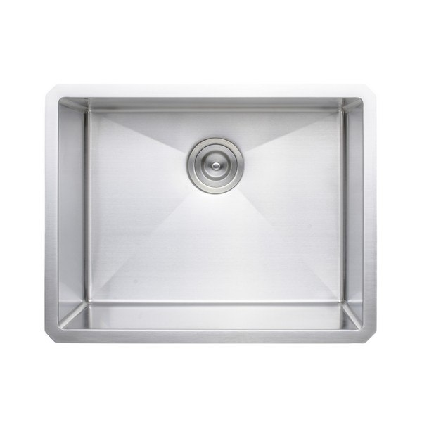 WELLS SINKWARE NCU2318-10 NEW CHEF'S COLLECTION HANDCRAFTED 23 INCH 16 GAUGE UNDERMOUNT SINGLE BOWL STAINLESS STEEL KITCHEN SINK