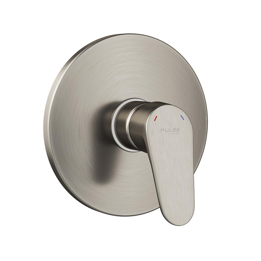 Pulse Showerspas 3002-RIV-PB-BN Round LED Tru-Temp Valve with Trim in Brushed Nickel