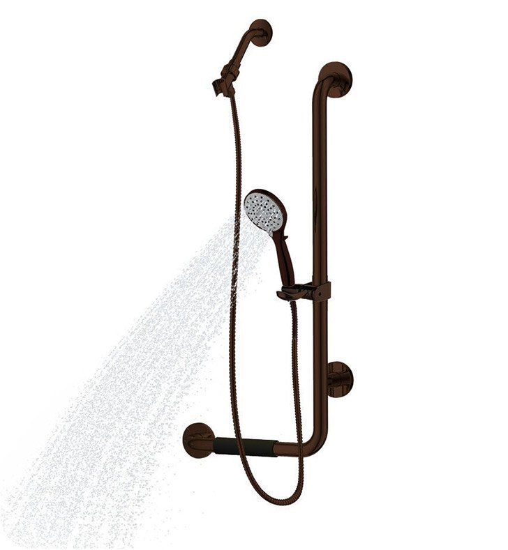 Pulse Showerspas 4001-ORB Ergo Hand Shower with Slide Bar in Oil Rubbed Bronze