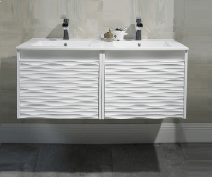 BLOSSOM 008 48 01 NM PARIS 48 INCH DOUBLE VANITY IN GLOSSY WHITE