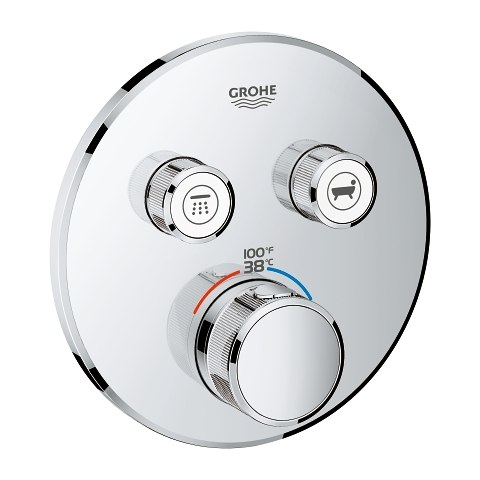 GROHE 29137 GROHTHERM SMARTCONTROL DUAL FUNCTION THERMOSTATIC TRIM WITH CONTROL MODULE