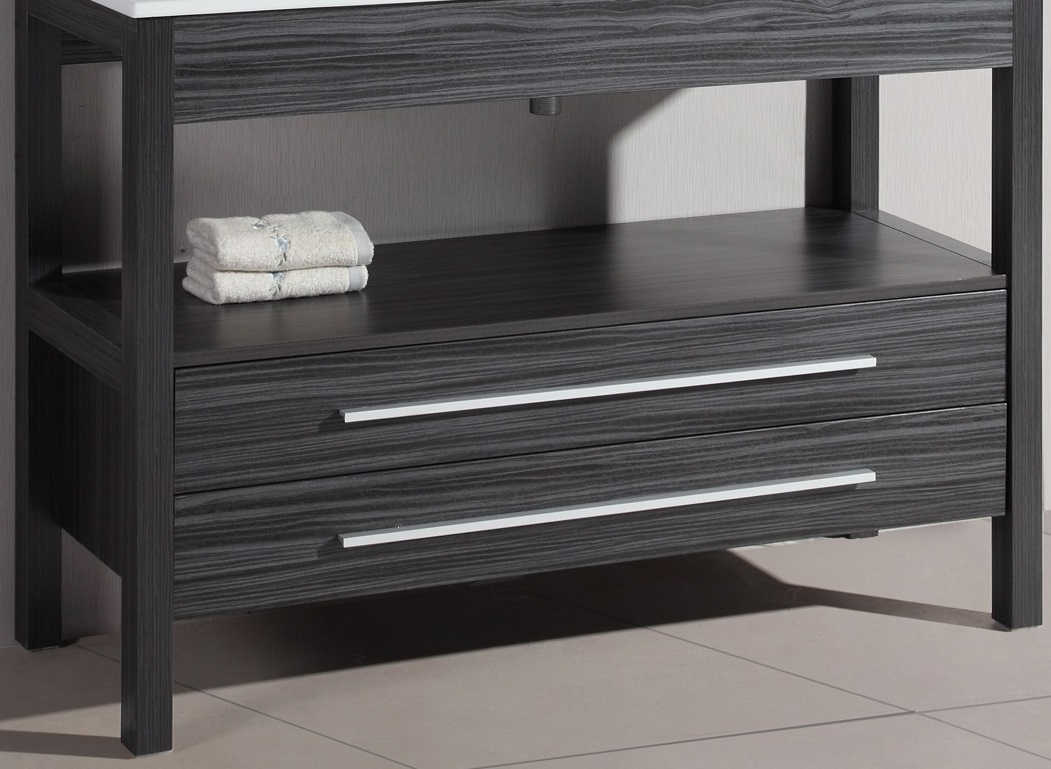 Bosconi A-5243GMC 48 Inch Contemporary Single Base Cabinet in Charcoal Gray