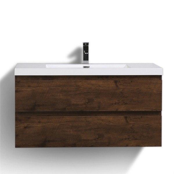 Moreno Bath MOB42-RW MOD 42 Inch Rosewood Wall Mounted Modern Bathroom Vanity With Reinforced Acrylic Sink