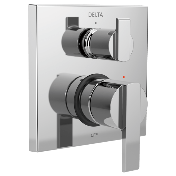 Delta T24967 Angular Modern Monitor 14 Series Valve Trim with 6-Setting Integrated Diverter