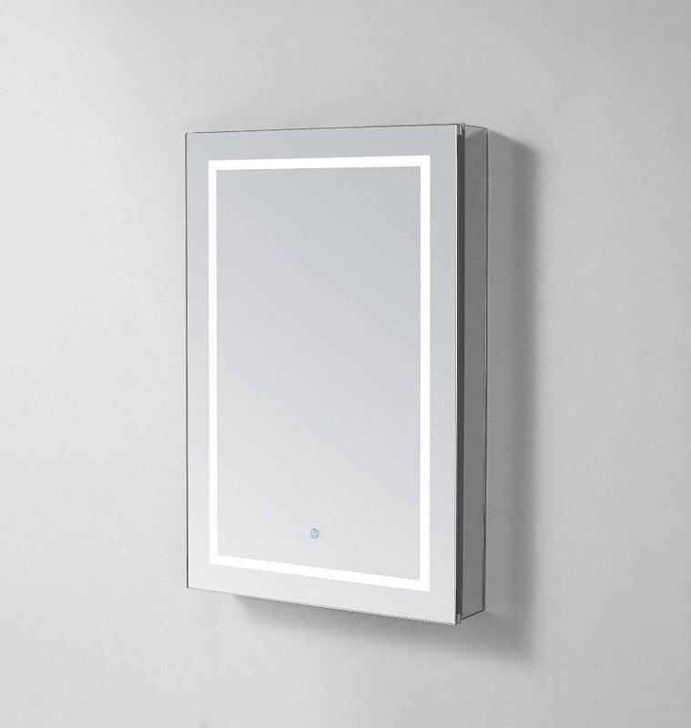 Aquadom Rp 2430r Royale Plus 24 X 30 Right Hinge Led Lighted Mirror Glass Medicine Cabinet For Bathroom Defogger