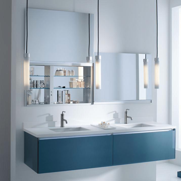 Superbe Robern UC3627FPL 36 Inch Uplift Cabinet Flat Plain Mirrored Cabinet W/  Nightlight Handle U0026 Mirror