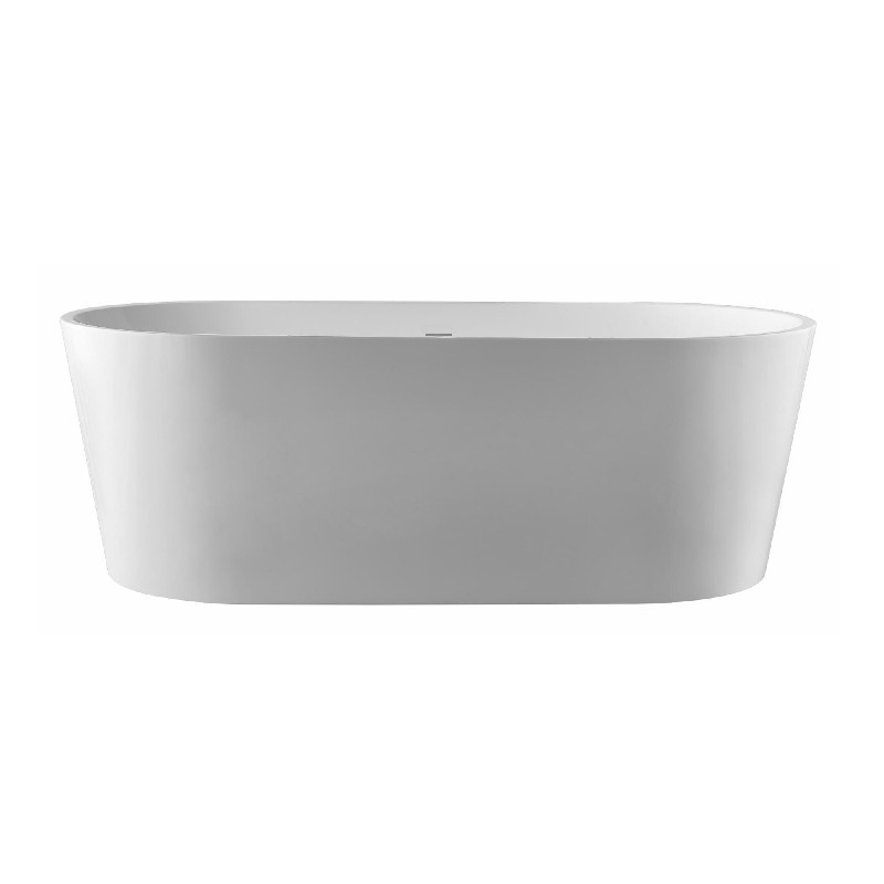 PULSE SHOWERSPAS PT-1003-150 59 INCH FREE STANDING OVAL TUB WITH POP-UP DRAIN