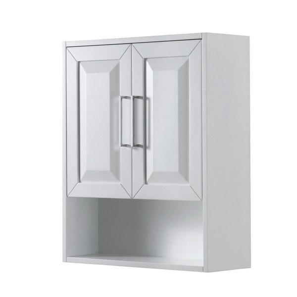 Wyndham Collection Wcs2020wcwh Deborah Bathroom Wall Mounted Storage Cabinet In White