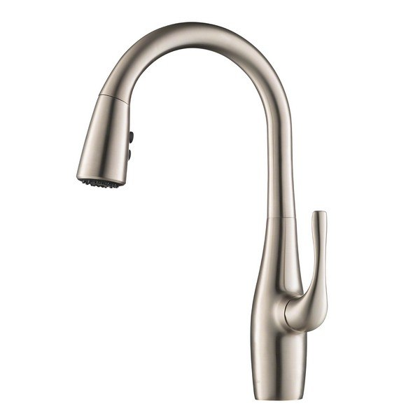 Kraus KPF-1670SFS Esina Single Handle Pull Down Kitchen Faucet with Dual Function Sprayhead in All-Brite Spot Free Stainless Steel