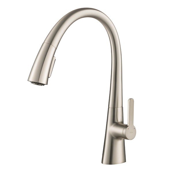 Kraus KPF-1673SFS Nolen Single Handle Pull Down Kitchen Faucet with Dual Function Sprayhead in All-Brite Spot Free Stainless Steel