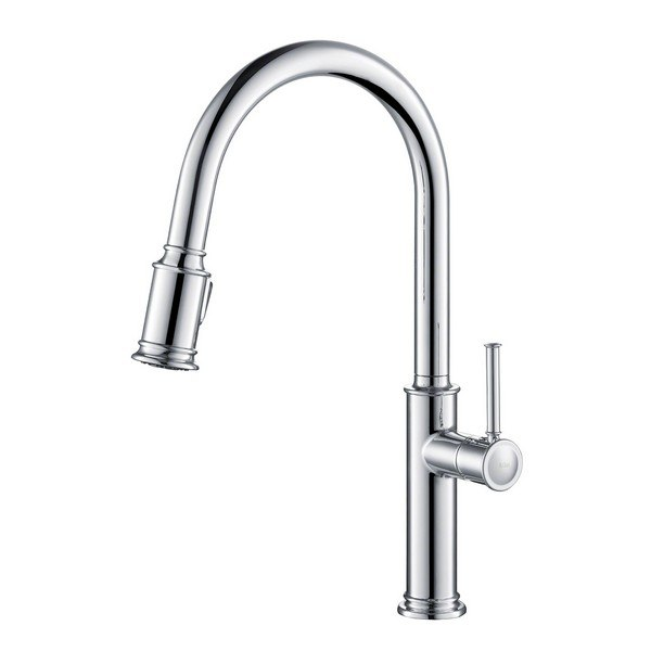 Kraus KPF-1680 Sellette Single Handle Pull Down Kitchen Faucet with Dual Function Sprayhead