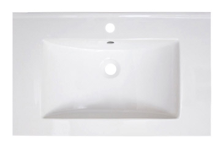 AMERICAN IMAGINATIONS AI-1187 30 X 18.5 INCH RECTANGLE CERAMIC TOP IN WHITE COLOR 1 HOLE FAUCET