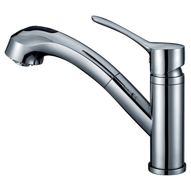 DAWN AB50 3711C SINGLE-LEVER PULL-OUT SPRAY KITCHEN FAUCET IN CHROME