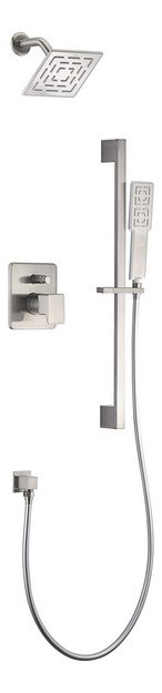 DAWN DSSAA04BN ACADIA SQUARE SERIES SHOWER COMBO SET IN BRUSHED NICKEL