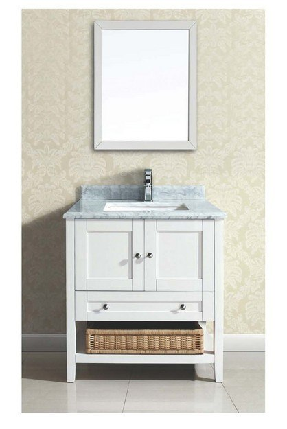 DAWN AACCS-3001 31 INCH FREE STANDING VANITY SET IN WHITE