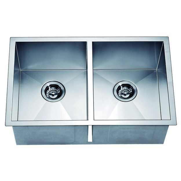 DAWN DSQ271616 29 INCH UNDERMOUNT EQUAL DOUBLE SQUARE SINK