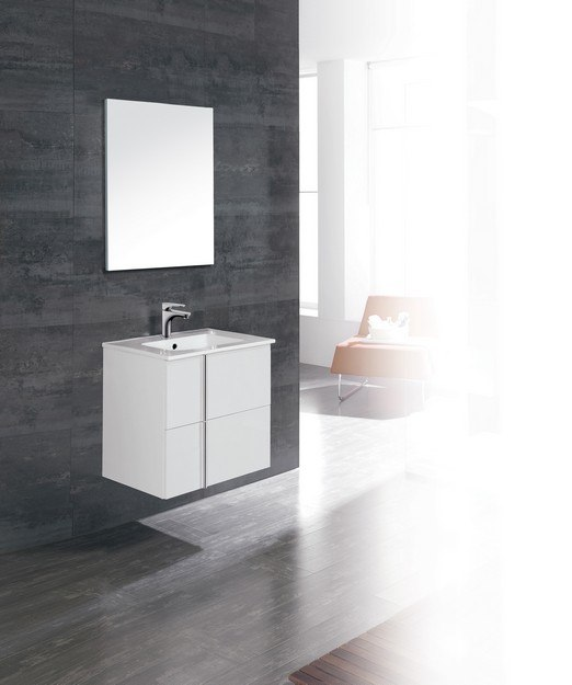 Dawn Onix 2401 24 1 16 Inch Wall Mount Vanity Set In White