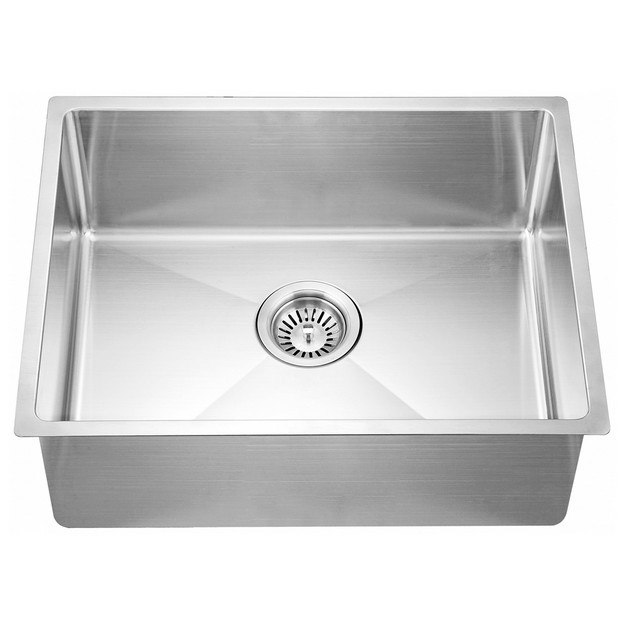 DAWN SRU201609 21 INCH UNDERMOUNT SMALL CORNER RADIUS SINGLE BOWL SINK